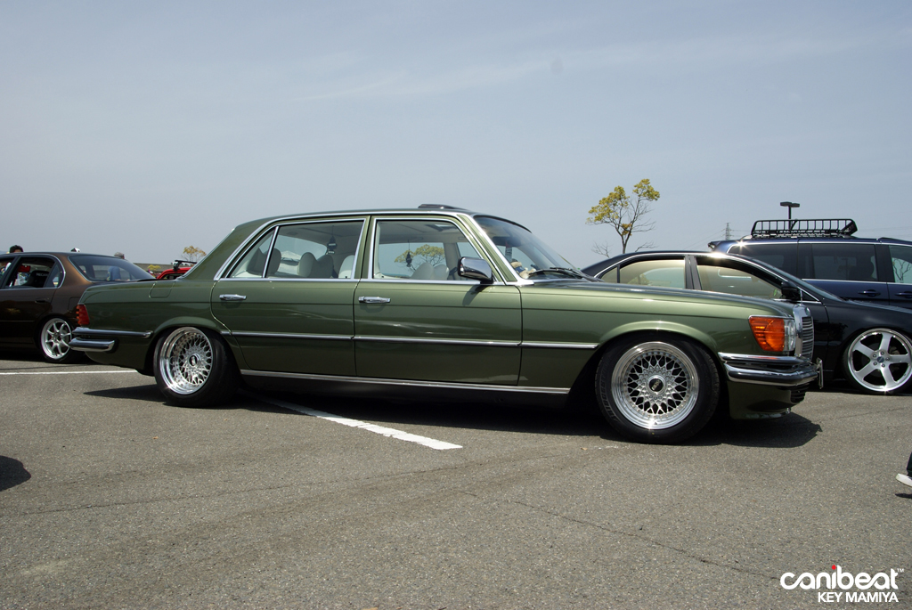 Green Mercedes Benz W116 On 16 Bbs Rs Bbs Rs Zone