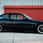 "Black BBS RC 17"" wheels on Black BMW M3 E36"