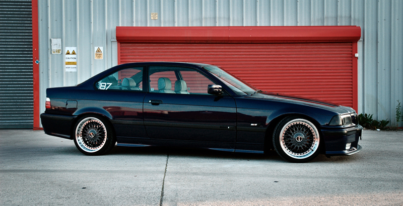 Black BBS RC on Black BMW M3 E36