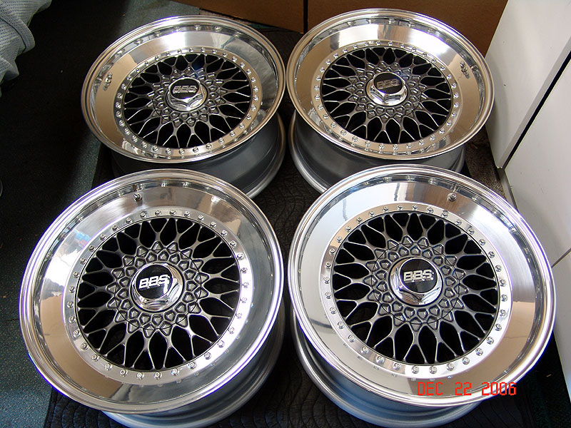 Grey BBS RS 18x8.5 +13 with Polished Lips