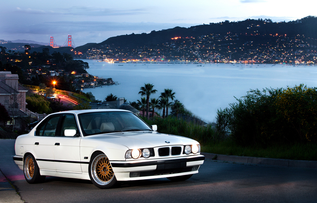 white bmw e34 sedan on gold face bbs rc bbs rs zone. Black Bedroom Furniture Sets. Home Design Ideas