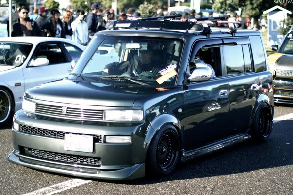 Black BBS RM on Grey Scion XB