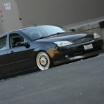 Black Ford Focus on Silver BBS RS