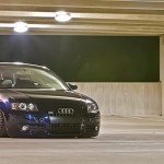 Blue Audi A3 on Brown BBS RS with Black Lips