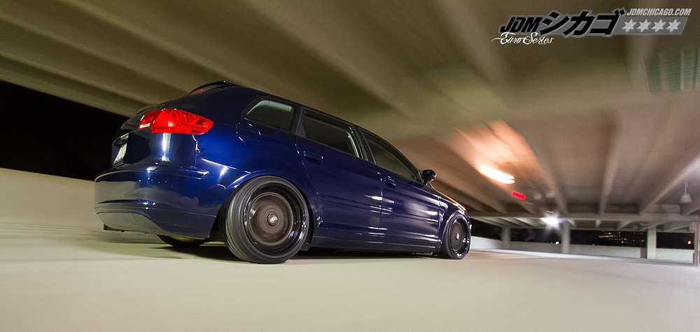 Blue Audi A4 on Brown BBS RS with Black Lips
