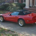 "Red Chevrolet Corvette on 16"" Gold BBS RS"