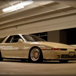 Cream Colored Toyota Supra A70 on Creamy BBS RS