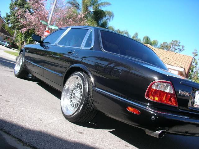 "Jaguar XJR on Polished 18"" BBS RS"