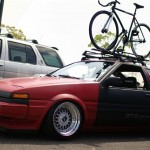 "Red Toyota Corolla GT-S AE86 on 15"" BBS RS"