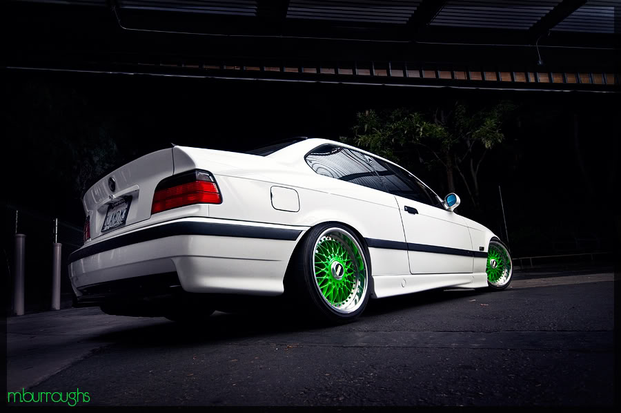BBS RC - White BMW E36 M3 on Green BBS RC