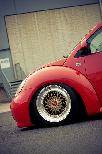BBS RS Gold on Red Volkswagen Beetle, 17x9.5 BBS RS178