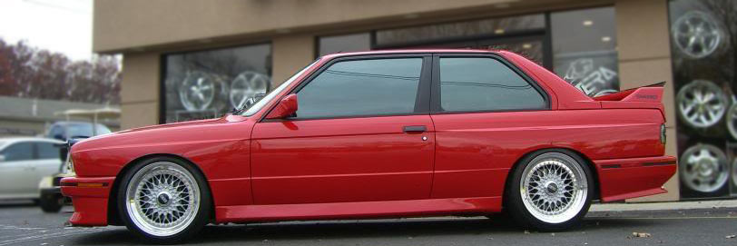 BBS RS on Red BMW E30 M3