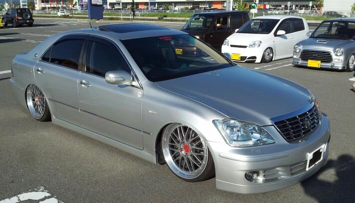 Diamond Black BBS LM on Toyota Crown