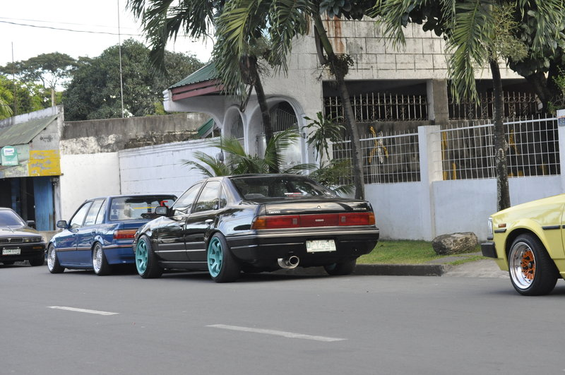 "Blue Honda Civic EF on 15"" BBS RS"