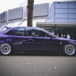 Purple EK Honda Civic on White BBS RS