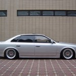 JDM Infinity Q45 on Silver BBS LM in Japan