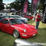 "Red Porsche 911 on 18"" Polished BBS RS"