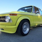 "Yellow BMW 2002tii E12 on 15"" BBS RS"