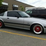 "BBS RS - Silver Mazda RX7 FB on 16"" Red BBS RS"