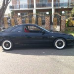 Black Acura Integra Type-R on Black BBS RS