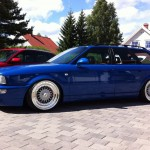Blue Audi RS2 Avant Wagon on 18