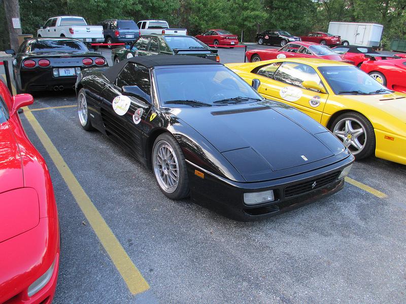 Black Ferrari 348 Spyder on Silver BBS LM