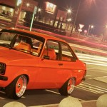 Orange Ford Escort 1600 Mk2 on Orange BBS RS