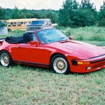 Gold BBS RS on Red Porsche 930 Slantnose Cabriolet