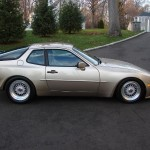 "Gold Porsche 944 Turbo on Silver 16"" BBS RS"