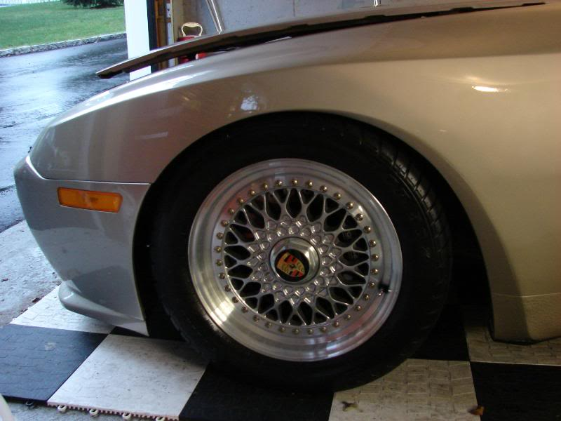 "Porsche 944 Turbo on Silver 16"" BBS RS"