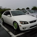 White Toyota Altezza Lexus IS300 on Green BBS RS