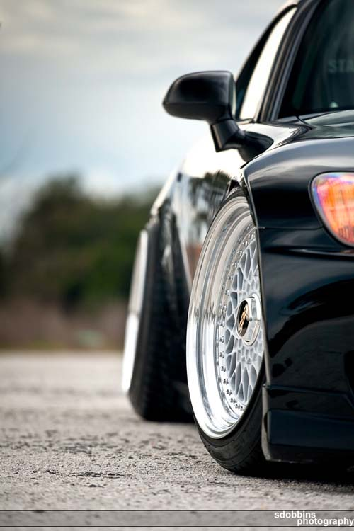 "17"" BBS RS on Black Honda S2000"
