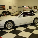 "White Nissan 300zx Twin Turbo z32 on 17"" BBS RS"