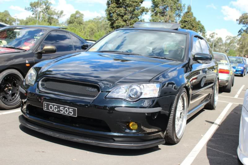 "Black Subaru Legacy Station Wagon on 17"" BBS RS"