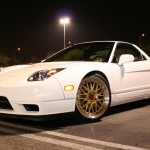 "White Acura NSX NA2 on 18"" Gold BBS RS"