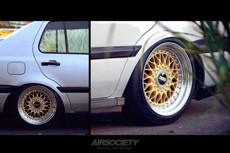 "Volkswagen Jetta MK3 Slammed on 15"" Gold BBS RS"