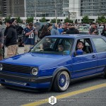 Blue Volkswagen Golf MK2 on Blue BBS RS
