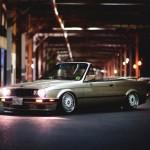 Gold BMW E30 Convertible on Staggered BBS RS