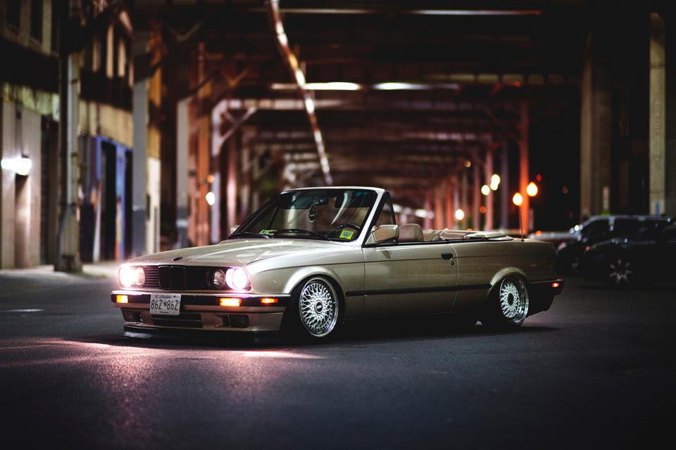 Gold Bmw E30 Convertible On Staggered Bbs Rs Bbs Rs Zone