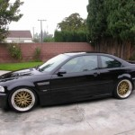 Gold BBS LM on Black E46 BMW M3