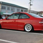 Red EK Honda Civic Si Coupe on 16