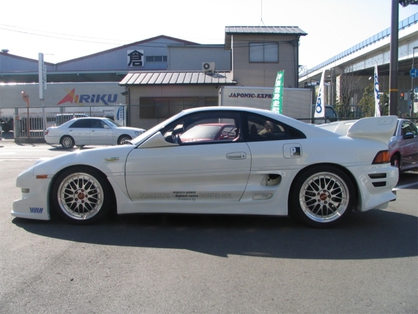White JDM Toyota MR2 Sw20 on Silver BBS LM