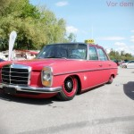 Mercedes Benz W115 on Black and Red BBS RS