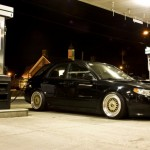 Gold BBS RS on Black Saab 9.2x Aero Wagon
