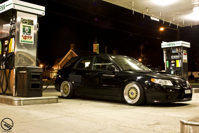 Gold BBS RS on Saab 9.2x Aero Wagon