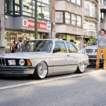 Silver BMW E21 Slammed on Silver 16