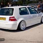 White Volkswagen Golf MK4 on White BBS RC