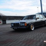 Gold BBS RS on Mercedes Benz W123