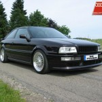Black Audi S2 on Silver BBS RS