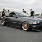 Gold BBS RS on BMW E46 Coupe Slammed